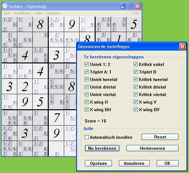 Sudoku Oploshulp