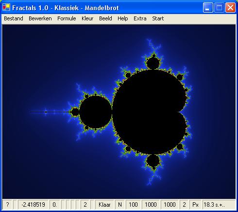 Fractal: Klassiek Mandelbrot